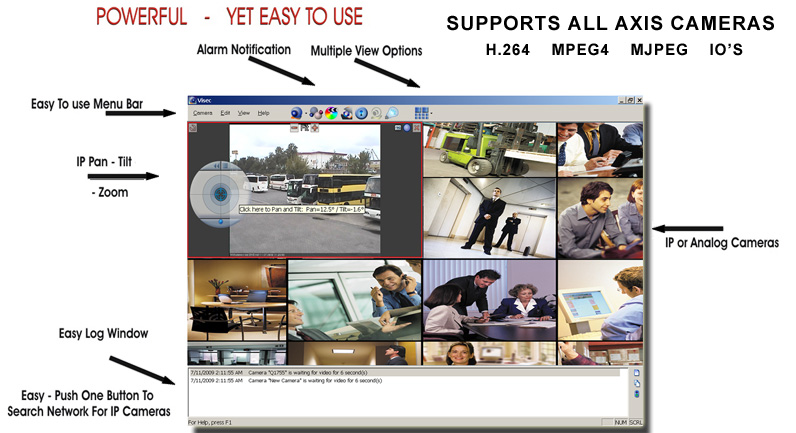 Visec Axis Camera Software is Easy to Use